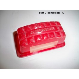 cabochon feu rouge clairage plaque immatriculation auteroche plastique r troptic 39 auto. Black Bedroom Furniture Sets. Home Design Ideas