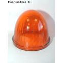 """Cabochon feu clignotant orange """"obus"""" SEIMA (verre)"""