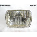 Headlight European Code CARELLO 07.677.800