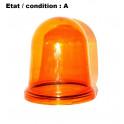 Cabochon feu gyrophare orange FER 240608