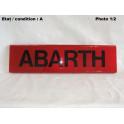 """Plaque décorative arrière rouge """"Abarth"""""""