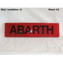 """Red decorative plate """"Abarth"""""""