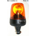 Complete orange rotating beacon 12V on pole ELECTRA M519