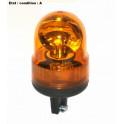 Complete orange rotating beacon 12V on pole AJBA GF10