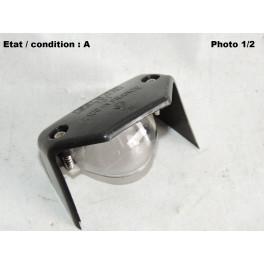 Cabochon feu plaque immatriculation GELBON 101