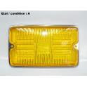 "Foglight headlight lens ""Iode 35"" yellow CIBIE 140009"