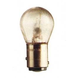 BAY15d - Lampe 6V 18/4W ergots décalés (verre granité)