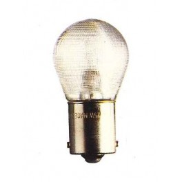BA15d - Lampe 12V 18/4W ergots symétriques (verre granité)