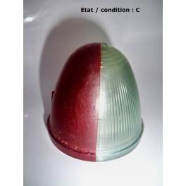 """Cabochon feu gabarit rouge/cristal """"obus"""" SEIMA 405 (plastique)"""
