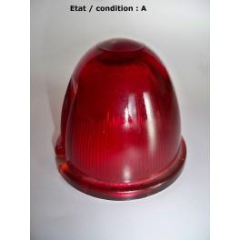 """Cabochon feu rouge """"obus"""" AXO (verre)"""