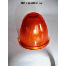 "Cabochon feu clignotant orange ""obus"" AXO (verre)"