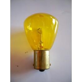 Bulb 6V 25W BA15s yellow
