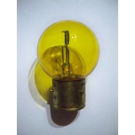 Bulb 6V 1A (6/6W) BA21d yellow