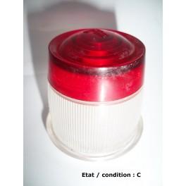 Red + licence plate light lens PK LMP 2680-112