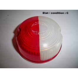 Red and white clearance light lens ARA 505 (striae)