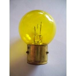 Bulb 6V / 9V 45W BA21s yellow (foglight or spotlight)