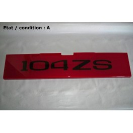 """Red decorative plate """"104 ZS"""""""