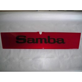 "Red decorative plate ""Samba"""