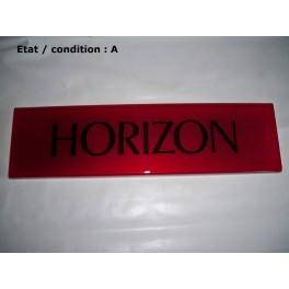 "Red decorative plate ""Horizon"""