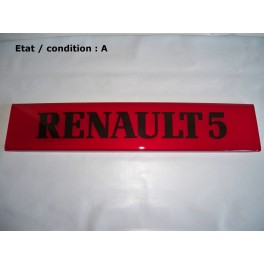 "Red decorative plate ""RENAULT 5"""