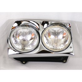 Right complete double headlight H4 + H1 CIBIE