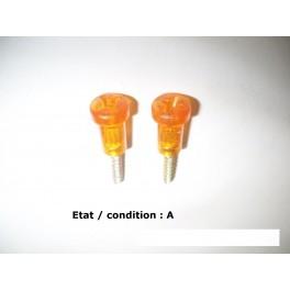 Pair of orange screws 32mm